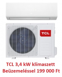 TCL 3,4 kW klíma szett beüzemeléssel